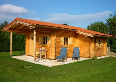 Garden House with Tool Shed, 11 cm Log Thickness