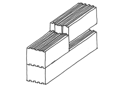 Longitudinal joint with dovetail joint